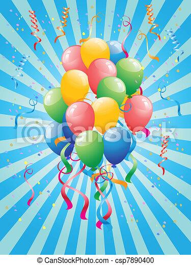 party, luftballone - csp7890400