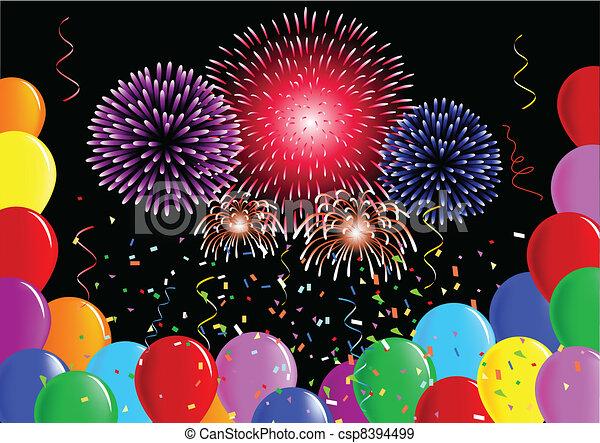 party, luftballone - csp8394499