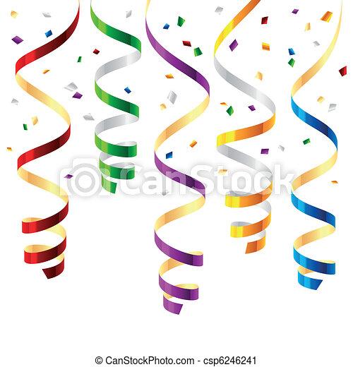 party, luftschlangen - csp6246241