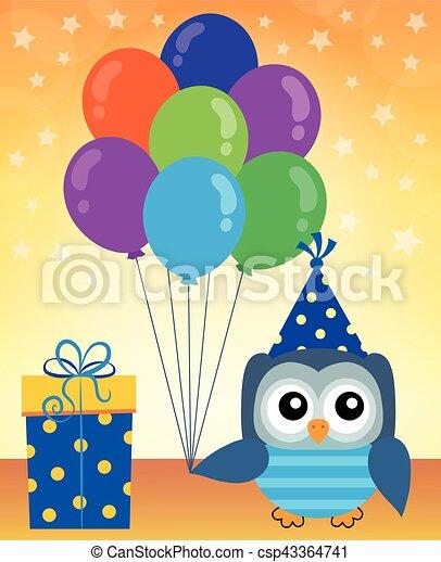 Party owl topic - csp43364741