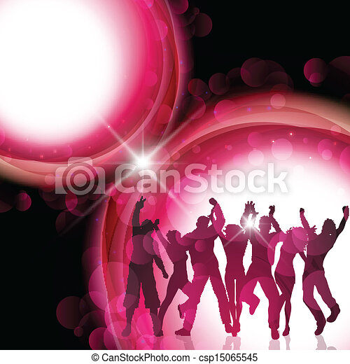 Party people background - csp15065545