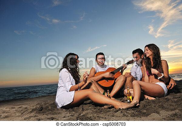 party, sandstrand - csp5008703