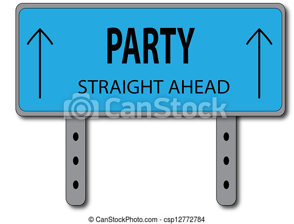 Party Sign Concept - csp12772784