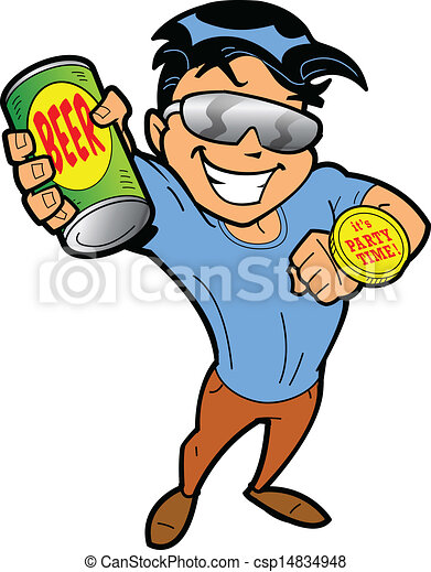 party time guy happy party animal guy saying it s party eps rh canstockphoto com clipart guy thinking clipart gui