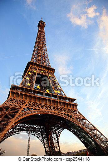 paryż, objazd, d\'eiffel - csp2544118