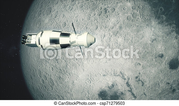 La nave Orion pasa la luna - csp71279503