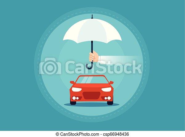 El concepto de vector de seguros de coches de pasajeros es plano - csp66948436