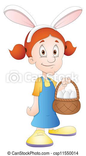 El personaje de la chica de Pascua - csp11550014