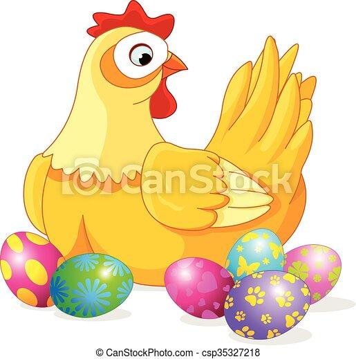Pollo de Pascua - csp35327218