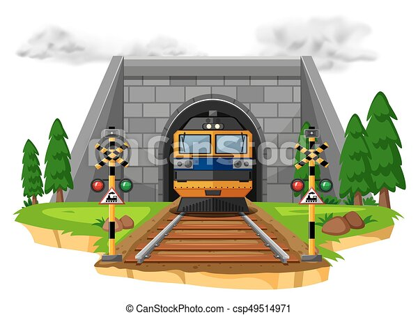 Paseo en tren en el ferrocarril - csp49514971
