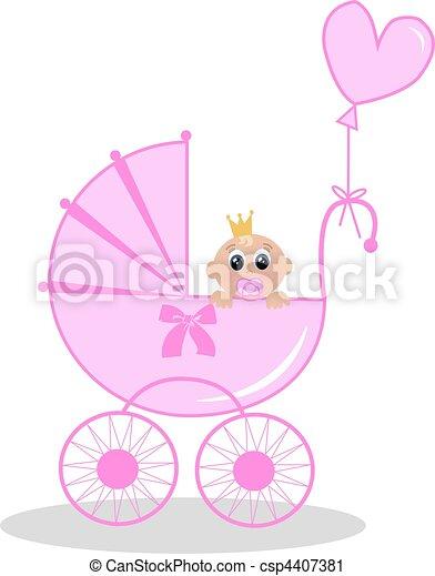 Pasgeboren Baby Meisje Illustratie