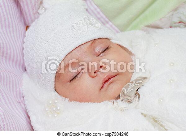 Pasgeboren baby meisje slapende pasgeboren baby meisje
