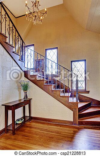 Pasillo entrada escalera casa lujo interior hermoso pasillo entrada escalera casa de - Escaleras de casas de lujo ...