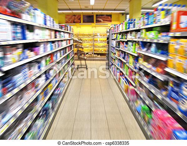 Al pasillo del supermercado - csp6338335