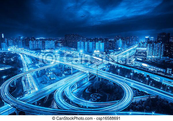Intercambio de la ciudad - csp16588691
