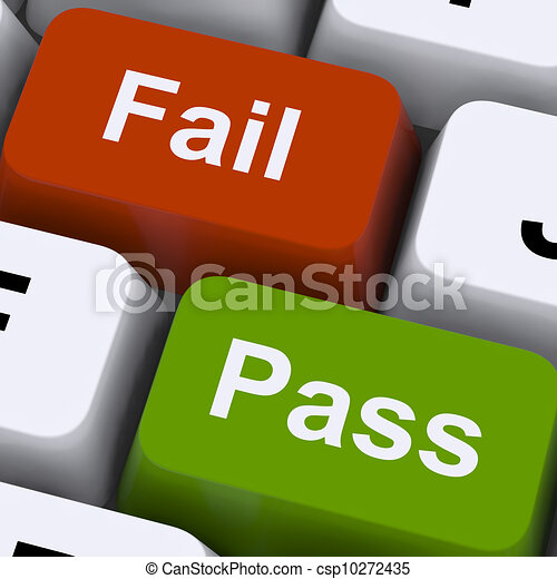 Pass Or Fail Keys To Show Exam Or Test Result - csp10272435