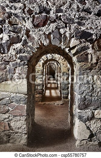Passage of an old castle - csp55780757