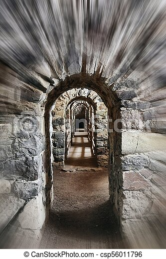 Passage of an old castle - csp56011796