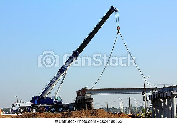 passage supérieur, grue, construction - csp4498563
