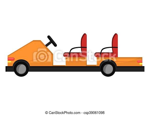 passageiro, aeroporto, carro elétrico, ícone - csp39061098
