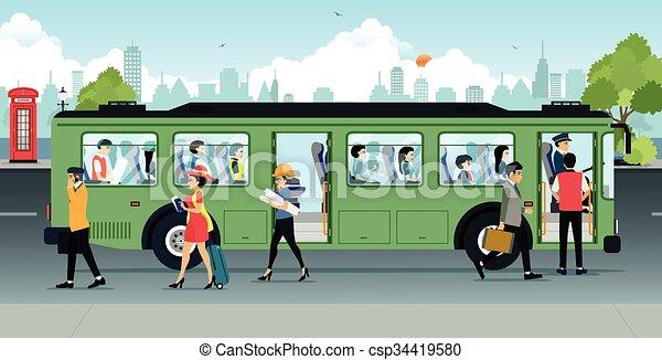 passageiro, autocarro - csp34419580