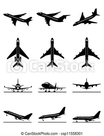 passageiro, diferente, aeronaves - csp11558301