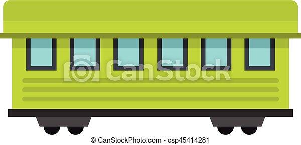passageiro, estilo, apartamento, car, trem, ícone - csp45414281