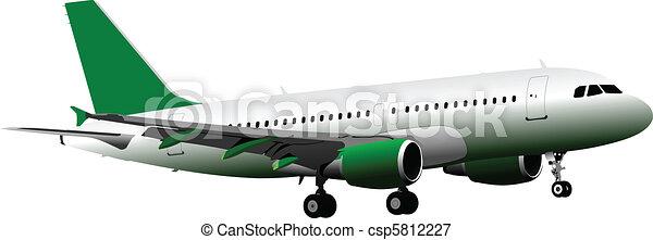 passageiro, ve, ar., avião. - csp5812227