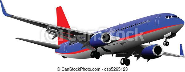 passageiro, vect, airplanes., colorido - csp5265123