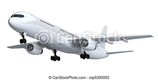 passager, blanc, isolé, paquebot - csp5393003