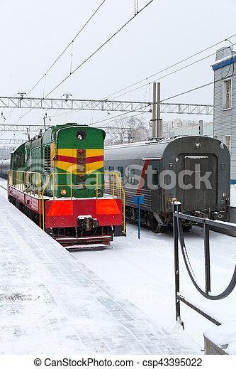 passager, station, train - csp43395022