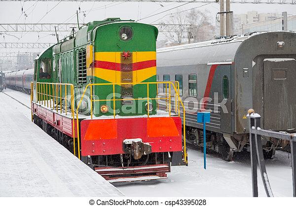 passager, station, train - csp43395028