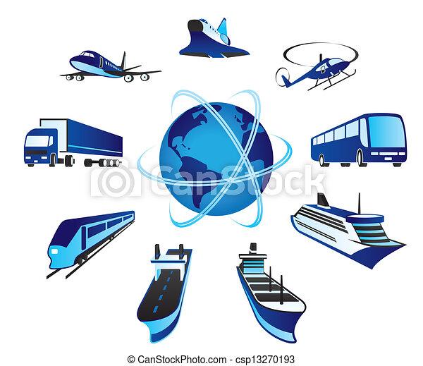 passager, transportations, cargaison - csp13270193