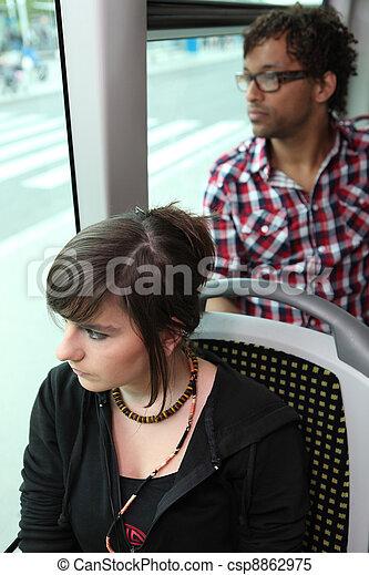 passagers, équitation, autobus - csp8862975