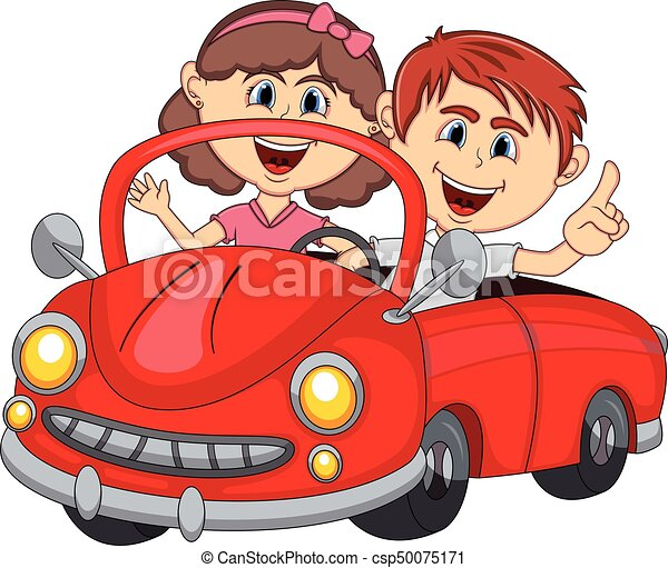 passagers couple jeune dessin anim voiture passagers illustration vecteurs. Black Bedroom Furniture Sets. Home Design Ideas