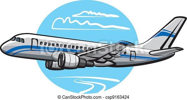 passagier, vliegtuig - csp9163424