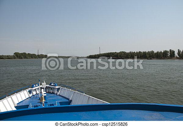 Passanger Transport Ship Danube Riv - csp12515826