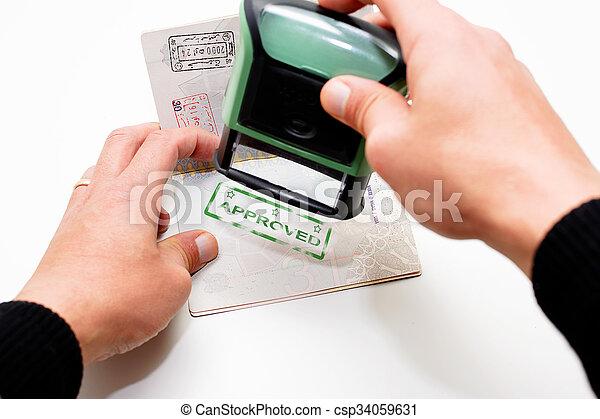 passaporte - csp34059631