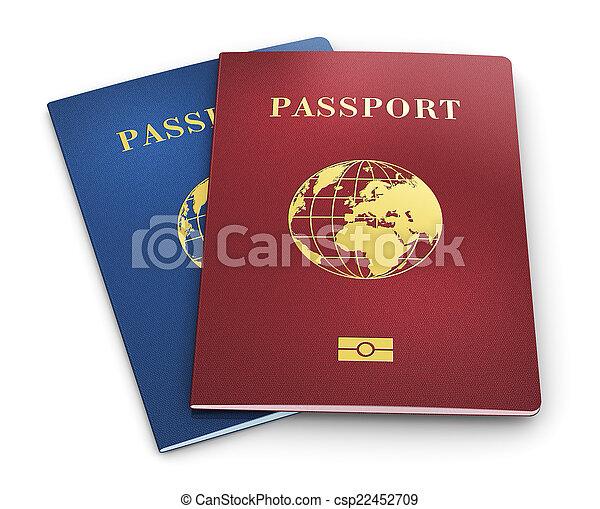 passaportes, biometric - csp22452709