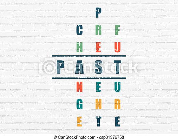 passato, cruciverba, concept:, tempo - csp31376758