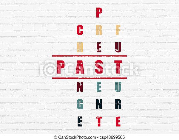 passato, timeline, puzzle, concept:, cruciverba - csp43699565