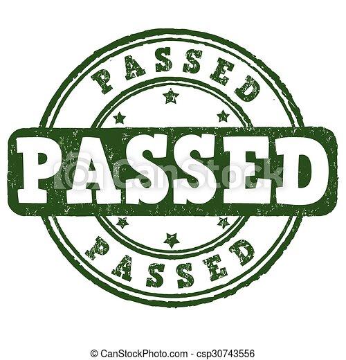 Passed stamp - csp30743556