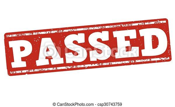 Passed stamp - csp30743759