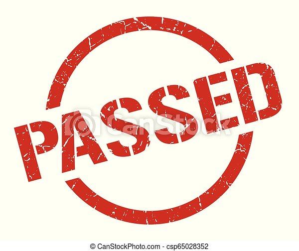 passed stamp - csp65028352