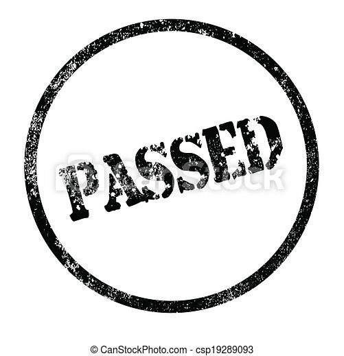 Passed Stamp - csp19289093