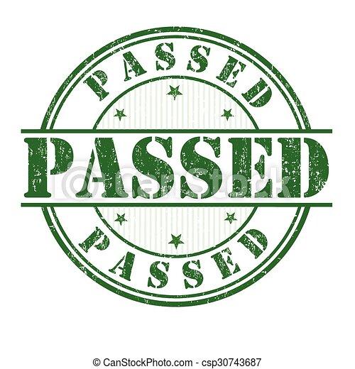 Passed stamp - csp30743687