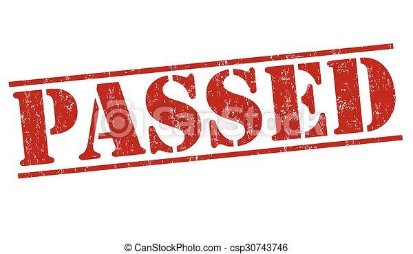 Passed stamp - csp30743746