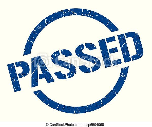 passed stamp - csp65040681