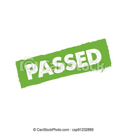 Passed stamp - csp91232889