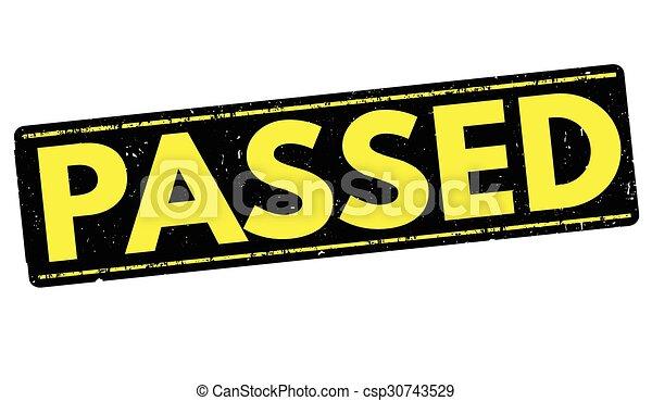 Passed stamp - csp30743529
